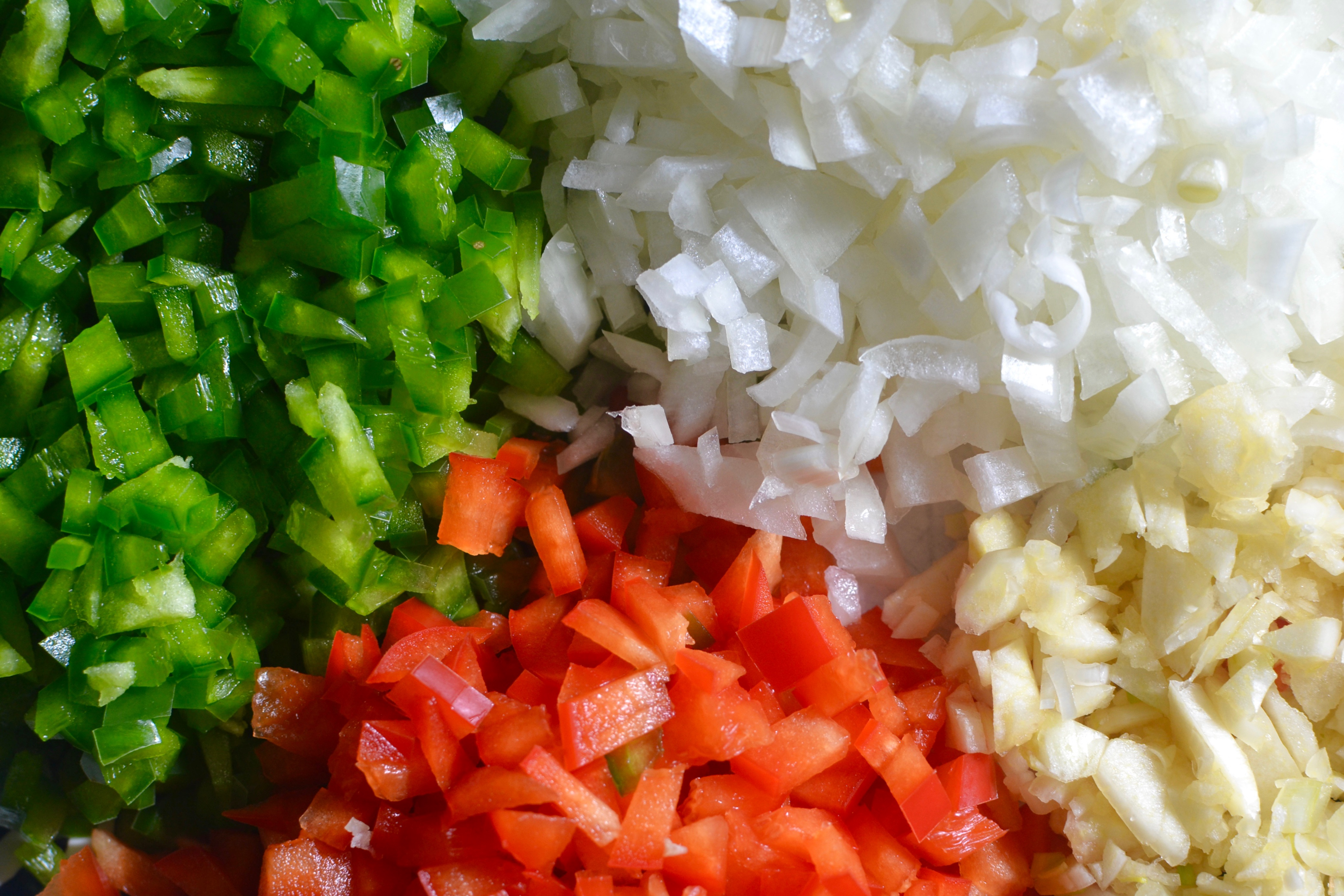 Image Gallery diced vegetables