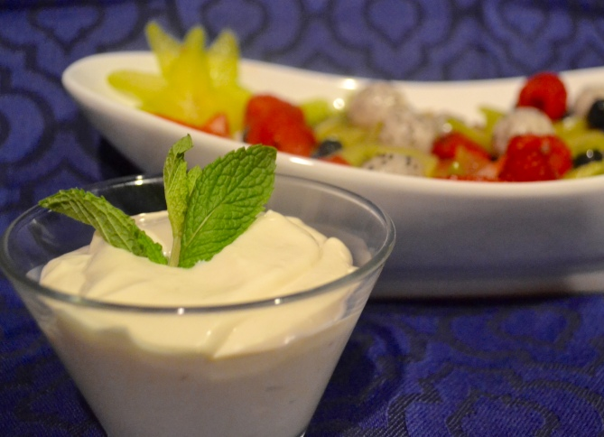 "Alt=""Exotic Fruit Salad with Cream Cheese Dip"""