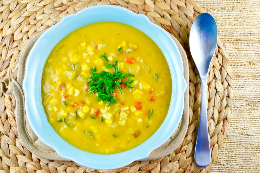 Creamy Vegan Roasted Corn Chowder