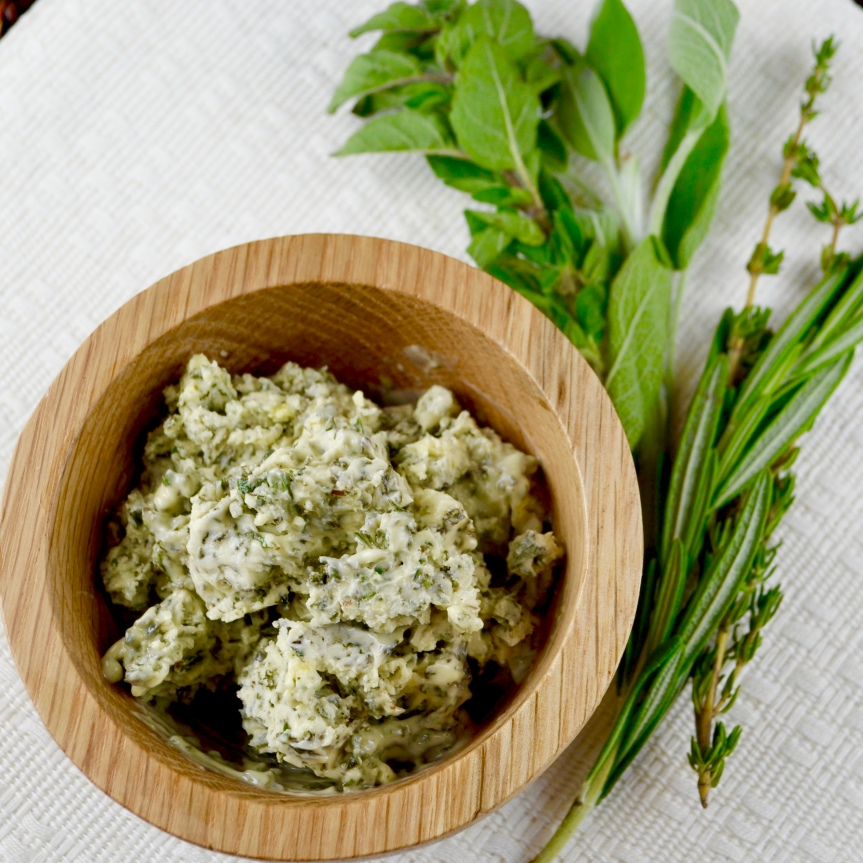 "Alt=""Savory Herb Vegan Butter Spread"""
