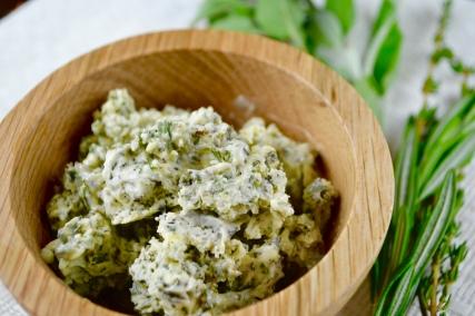 "Alt=""Savory Herb Vegan Butter Spread"""