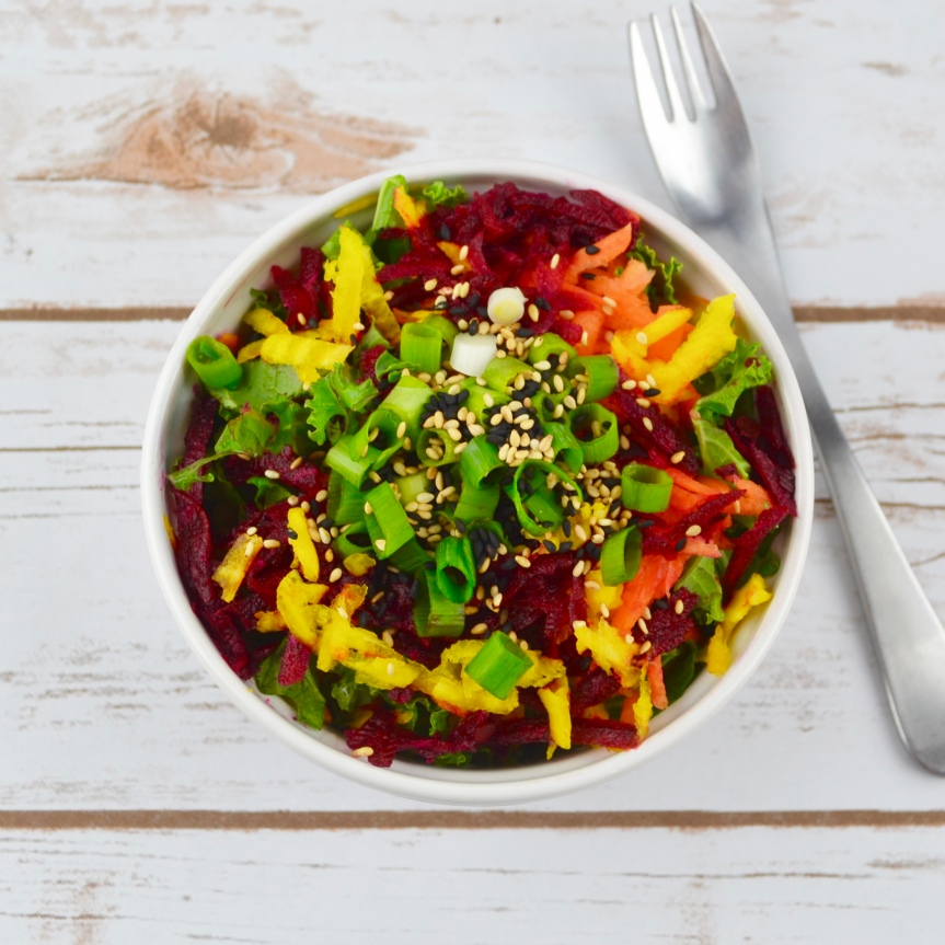 Rainbow Beet Salad with Sesame Dressing