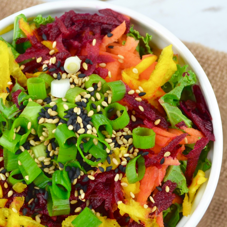 "Alt=""Rainbow Beet Salad with Sesame Dressing"""