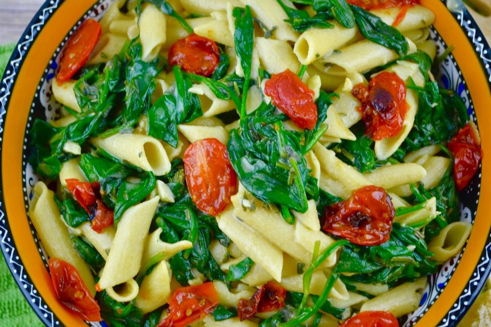 """Alt=""""Herbed Pasta Florentine"""""""